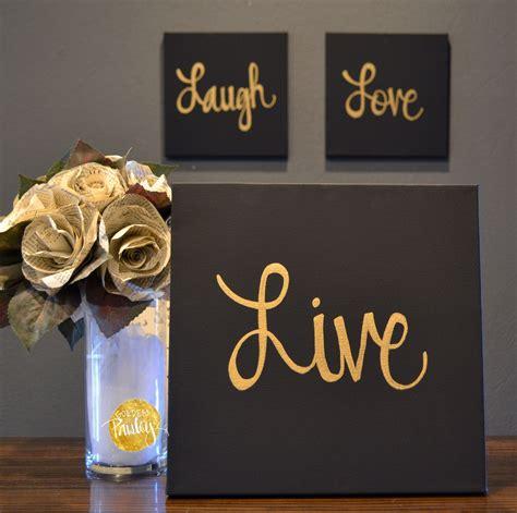 Live Laugh Home Decor by Live Laugh Black Gold 3 Wall Decor Set