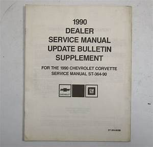 1990 Chevy Corvette Service Manual Update Bulletin Used St