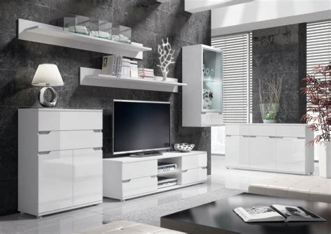 Aspire White Gloss Tall Sideboard Storage Unit Prxas