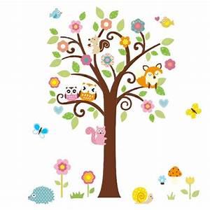 Baum Für Wohnzimmer : wandtattoo eule auf ast baum f rs kinderzimmer oder ~ Michelbontemps.com Haus und Dekorationen