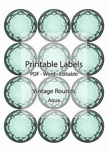 round labels jar container printable editable label With jar lid labels round