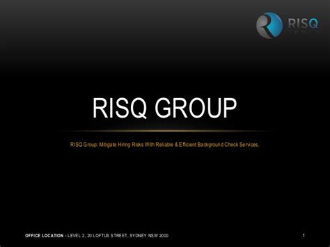 Ppt Mitigate Hiring Risks With Reliable Background Check Risq Mitigate Hiring Risks With Reliable