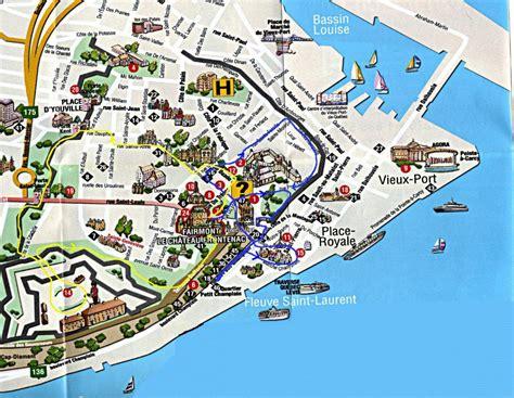 tourist map   quebec city map   quebec