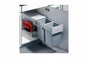 Poubelle De Tri Selectif : poubelle coulissante tri selectif 2 bacs 30l accessoires ~ Farleysfitness.com Idées de Décoration
