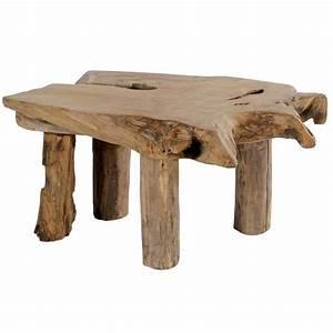 Table Bois Massif Brut : racines de teck aravis meubles ~ Teatrodelosmanantiales.com Idées de Décoration