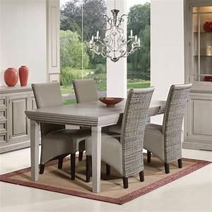 Chaise En Rotin : chaise beige en rotin et pu moderne verbena ~ Preciouscoupons.com Idées de Décoration
