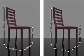 Dining Table Chair Measurements by Dining Chair Dimensions