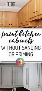 how to paint kitchen cabinets without sanding or priming With what kind of paint to use on kitchen cabinets for sailor jerry wall art