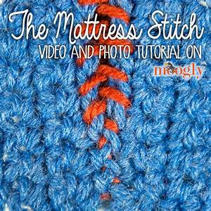 Video Tutorial  Mattress Stitch Seaming