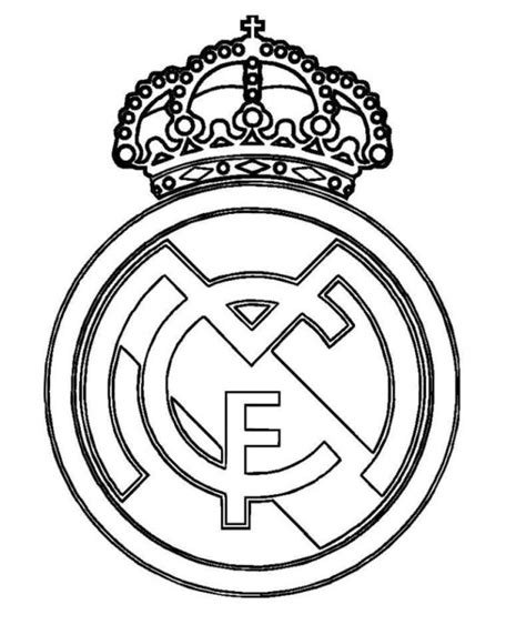 real madrid logo soccer coloring pages coloring pages pinterest