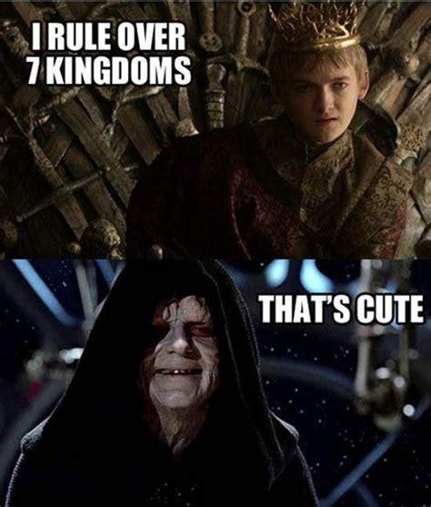 Star Wars Emperor Meme - joffrey y darth sidious humor juego de tronos pinterest