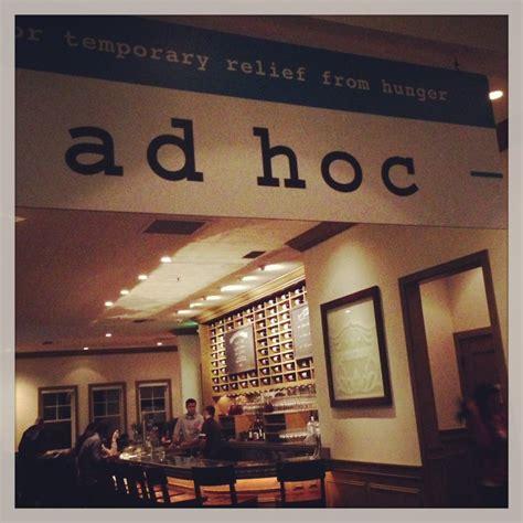 ad hoc cuisine ad hoc restaurant dishes