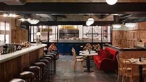 restaurant in industrial vintage style in