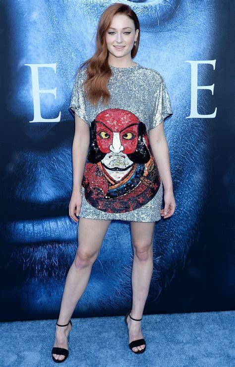 """Sophie Turner – """"Game Of Thrones"""" Season 7 Premiere in Los ..."""