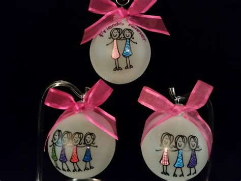 friends personalized ornament best friends by