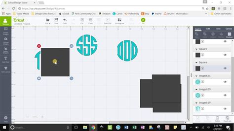 monogramos font  cricut design space youtube