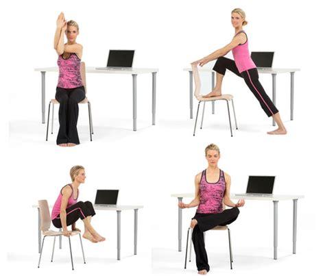 yoga at your desk 8 poses for yoga at your desk popsugar fitness