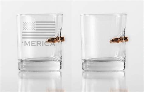 Cool Product Alert Benshot Bullet Embedded Glasses by Benshot Bulletproof Rocks Glass With Bullet In Them