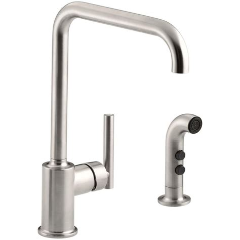 single handle kitchen faucet with side spray kohler mistos single handle standard kitchen faucet with