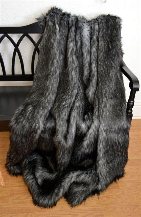 faux fur throw blanket gray wolf faux fur fur bedding