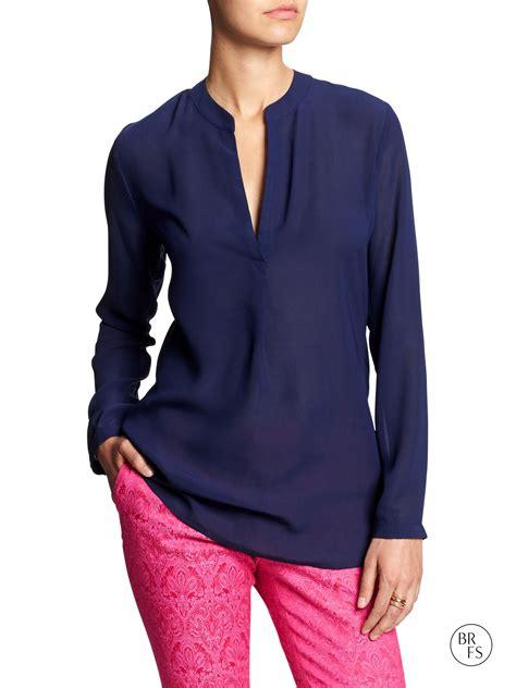blue blouse sheer navy blue blouse silk blouses