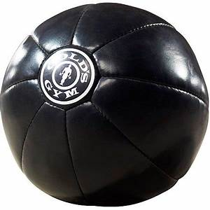 Gold's Gym Extreme 15 lb Synthetic Leather Medicine Ball ...