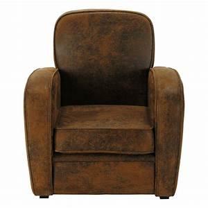 Club Enfant Fauteuil : fauteuil club enfant en microsu de marron arizona maisons du monde ~ Teatrodelosmanantiales.com Idées de Décoration