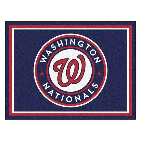 New York Yankees Area Rug by Fanmats Mlb Washington Nationals Navy Blue 8 Ft X 10 Ft