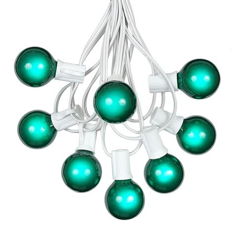 100 green g40 globe outdoor string light set on
