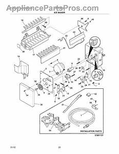 Parts For Electrolux Ew26ss65gs0  Ice Maker Parts