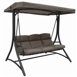 patio furniture covers opus cappuccino 3 seat cushioned swing 2 colours available inspired outdoor living