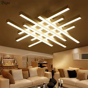 Modern Geometric Metal Dimmable Led Ceiling Lights Lustre ...