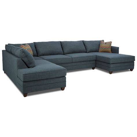 Raf Sofa Sectional by Klaussner Tilly Three Sectional Sofa With Raf Chaise