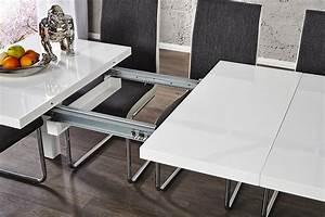 Designer Esstisch Weiß : design esstisch lucente weiss hochglanz 120 200cm ausziehbar tisch wei tische ebay ~ Indierocktalk.com Haus und Dekorationen