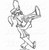 Trombone Cartoon Marching Playing Coloring Outline Vector Drawing Pages Musical Instruments Band Printable Leishman Ron Getdrawings Powered Results sketch template