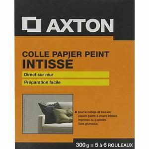 colle papier peint intisse axton 03 kg leroy merlin With peinture sur colle papier peint