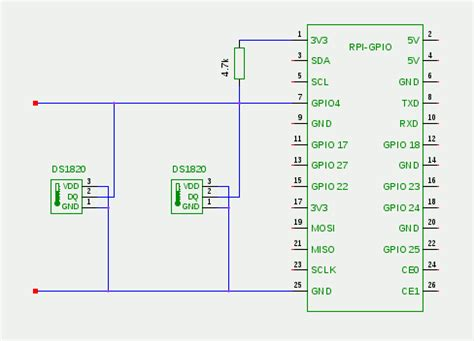 1 wire temperature sensor ds1820 at raspberry pi gpio directly