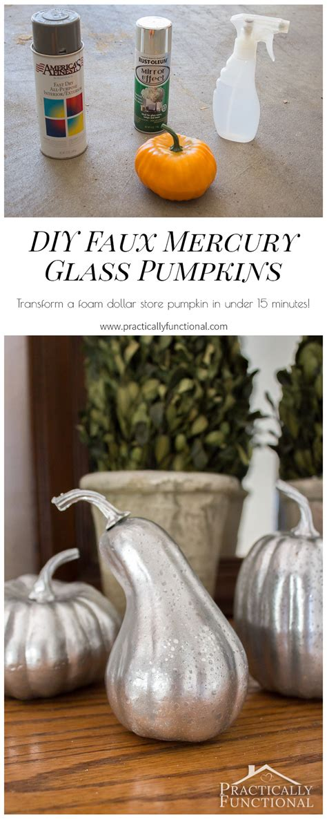diy faux mercury glass pumpkins  foam pumpkins