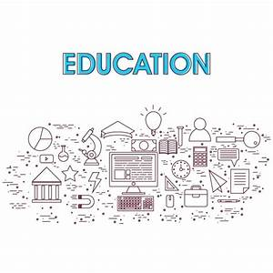 Education background with flat elements Vector | Premium ...