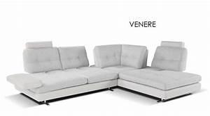 Canape d'angle haut de gamme italien extensible 309 cm