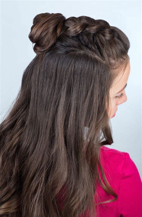Half Braided Half Curly Hairstyles by Half Up Half Hairstyles For Second Day Hair