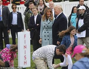 With a blow of whistle, Trump kicks off Easter Egg Roll ...