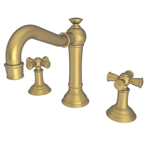 Newport Brass 2460 Widespread Lavatory Faucet Country Base