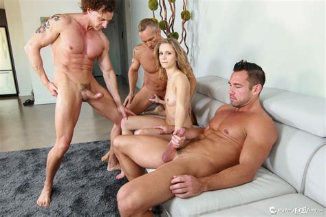 Rachel James Having Her Very First Gangbang