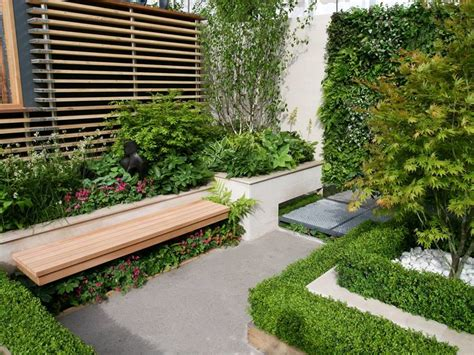 urban garden design  narrow area  ideas