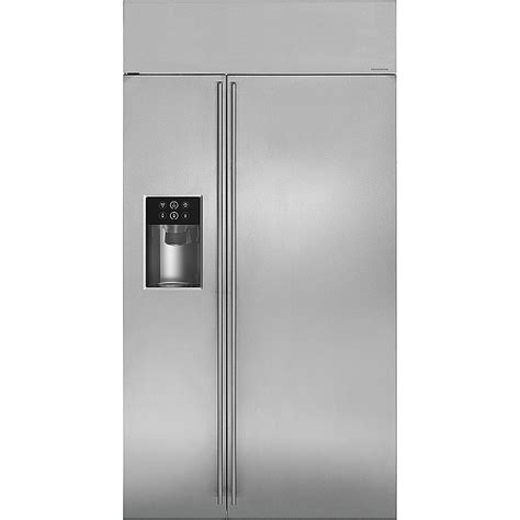 monogram  cu ft side  side built  refrigerator stainless steel  pacific sales