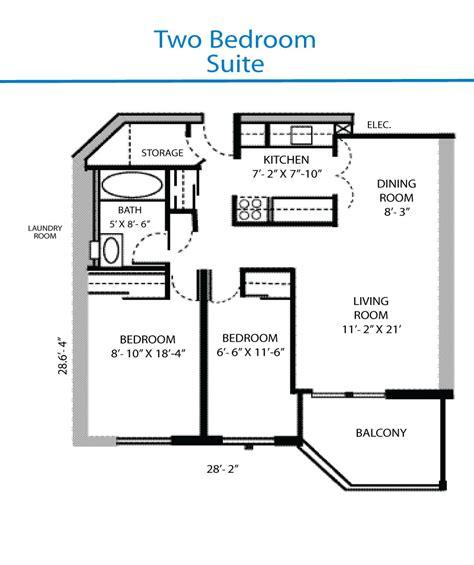 2 bedroom floor plan floor plan of the two bedroom suite quinte living centre
