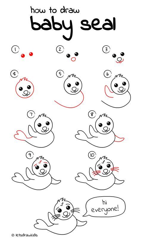 Kleurplaten Zeehonden by Zeehond Kleurplaat With Hoe Teken Je Een Zeehond Beste