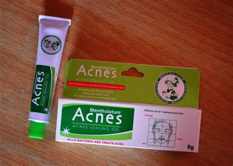 Acnes Sealing Gel 18gr mentholatum acnes sealing gel review pictures and