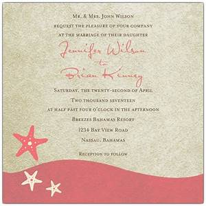 starfish dream coral wedding invitations paperstyle With blank coral wedding invitations